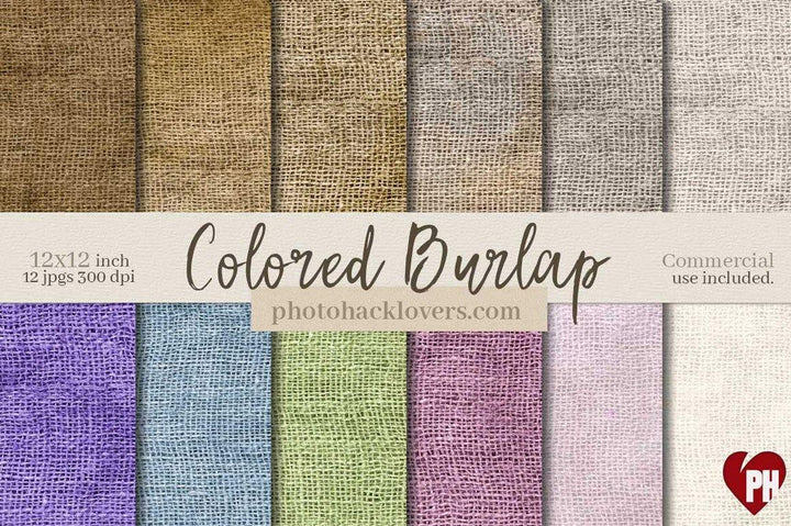 Burlap Digital Paper - Photohack Lovers