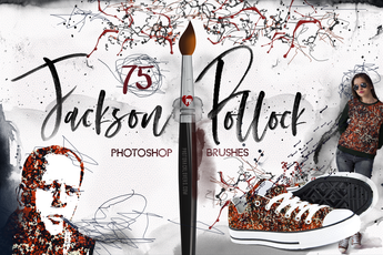75 Jackson Pollock Photoshop Brushes