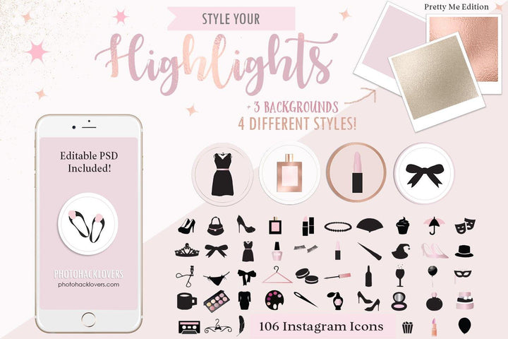 Pretty me edition Highlight Covers - Photohack Lovers