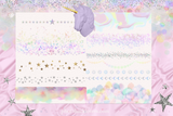 Pastel Unicorn Clipart Borders