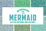 Mermaid Glitter Digital Papers - Photohack Lovers