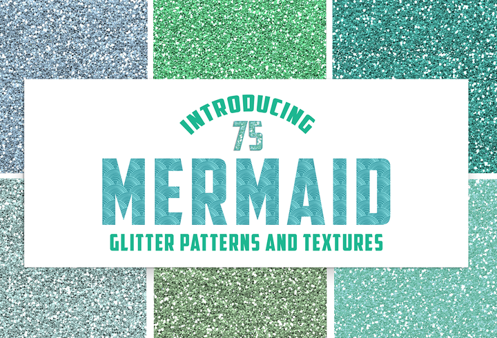 Mermaid Glitter Digital Papers
