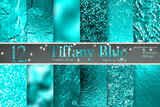 Teal Foil Digital Paper - Photohack Lovers