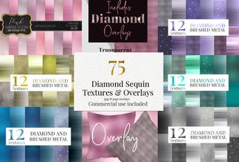 75 Diamond Sequin & Metal Textures