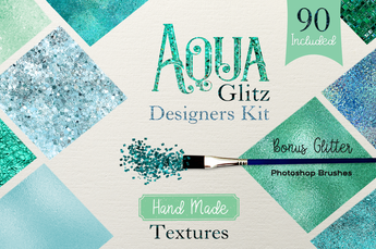 Aqua Glitz Designer Kit - Photohack Lovers