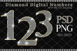 Diamond Numbers - Gold Diamond - Photohack Lovers