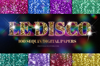 100 Sequin Digital Papers - Photohack Lovers