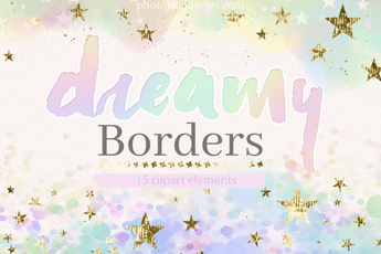Pastel Unicorn Clipart Borders - Photohack Lovers