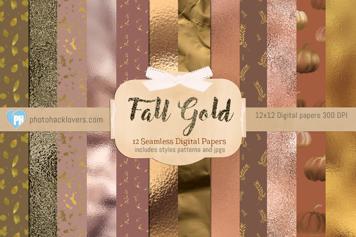 Autumn Digital Paper Pack - Photohack Lovers