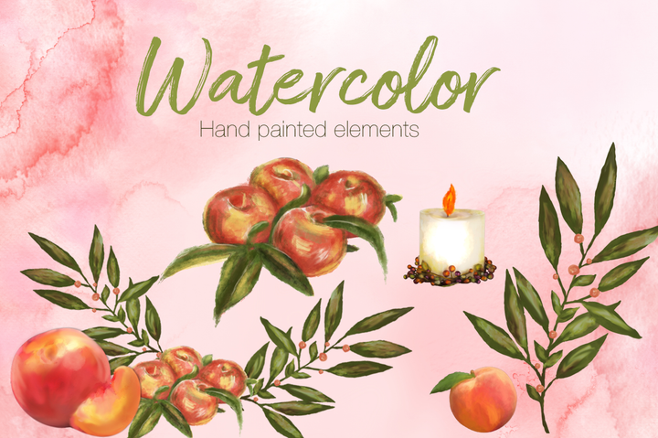 Peach Passion Watercolor set