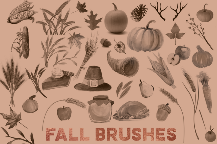 fall photoshop brushes