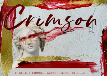 Red and Gold Brush strokes - Photohack Lovers