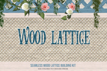 Wood Lattice Seamless Backgrounds