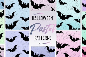 Halloween Glitter Pastel Patterns - Photohack Lovers