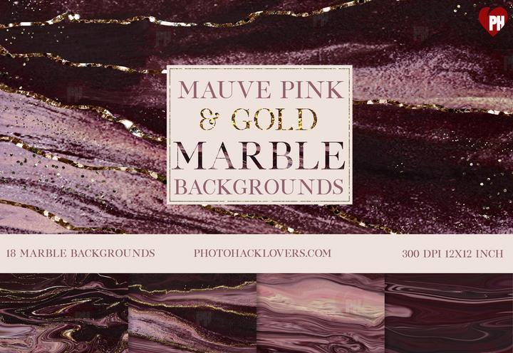 Mauve Pink n Gold Marble background - Photohack Lovers