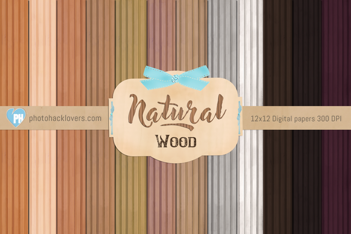 Natural Wood Digital Paper