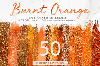 50 Orange Brush Strokes - Photohack Lovers