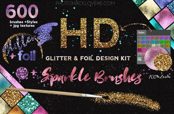 HD Glitter and Foil Design Kit - Photohack Lovers