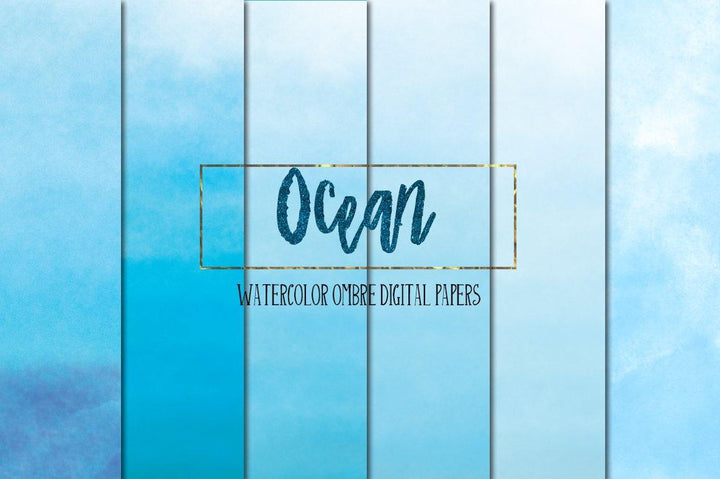 Ocean Ombre Watercolors - Photohack Lovers