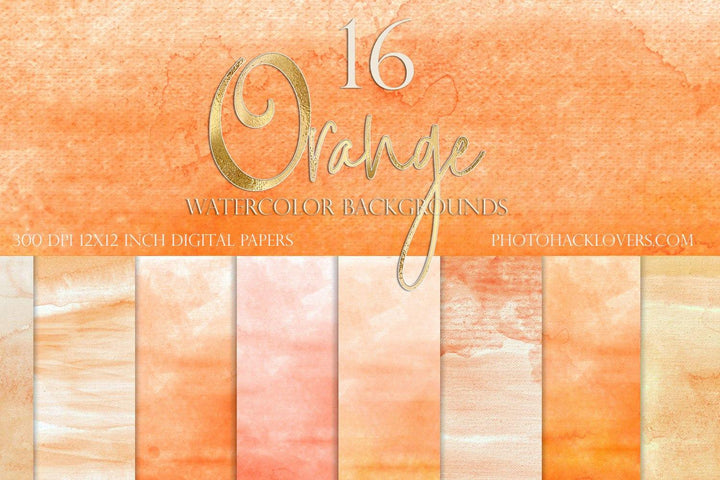 Orange Watercolor Background - Photohack Lovers