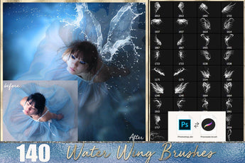 Water Fairy Wings Photoshop Brushes - Photohack Lovers
