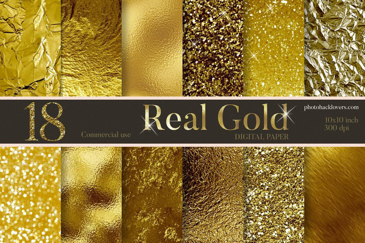 18 Real Gold Textures - Photohack Lovers