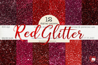Red Glitter Background - Photohack Lovers