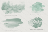 Mint Abstract Watercolor Washes - Photohack Lovers