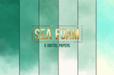 Seafoam ombre watercolor