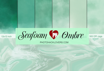 Seafoam ombre watercolor Digital Paper - Photohack Lovers