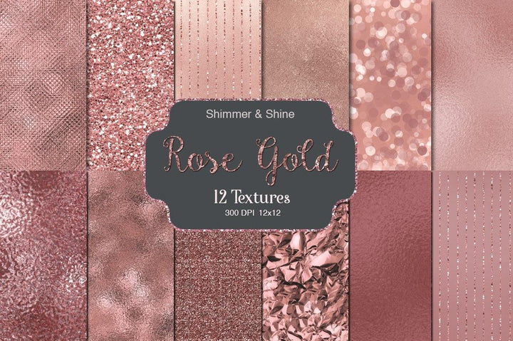 Rose Gold Shimmer & Shine
