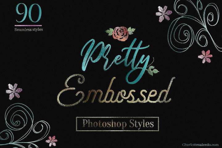 Pretty Foil Embossed PS Styles - Photohack Lovers