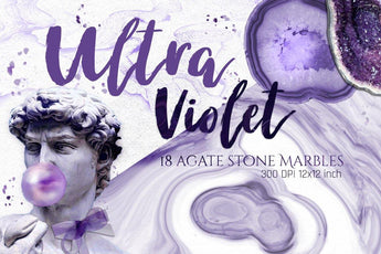 18 Ultraviolet agate marble textures