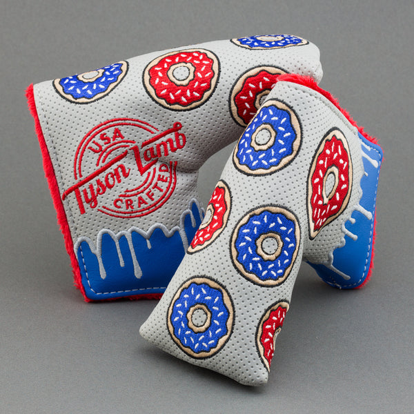 Donut Putter Head Cover-Gray/Red/Blue