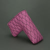 Hot Pink/Black Linx Quilted Leather Putter Cover ***LIMIT 1***