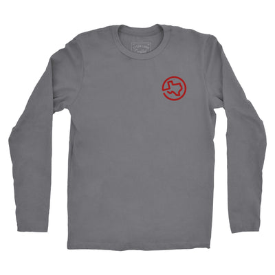 Vintage Bottle Long Sleeve Tee - Gray