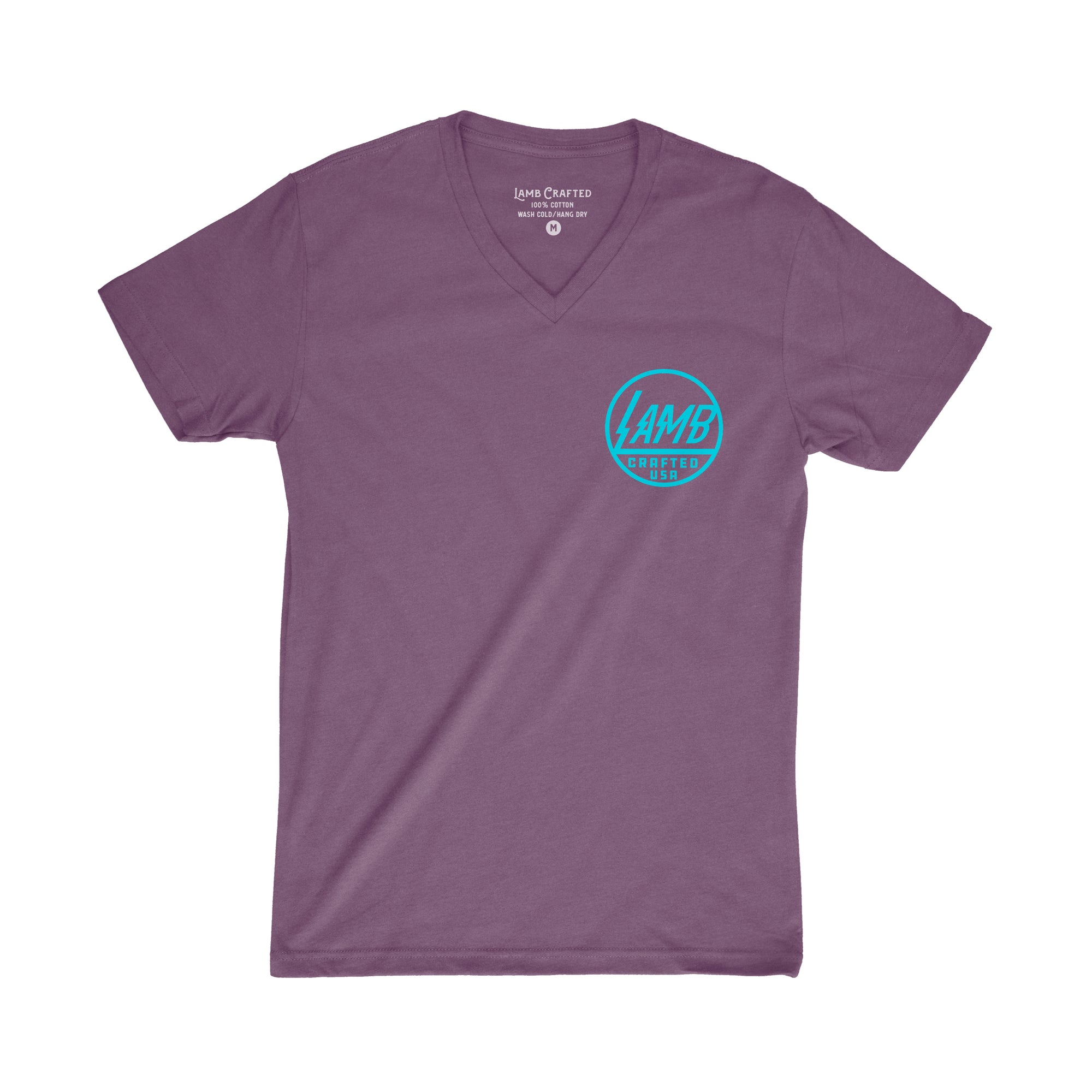 Lamb Voltage V-Neck Tee - Purple/Turquoise