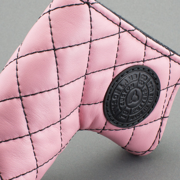 Pink/Black Quilted Leather Putter Cover