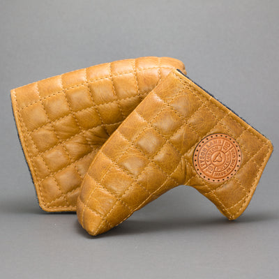 Tan Quilted Leather Putter Cover ***LIMIT 1***