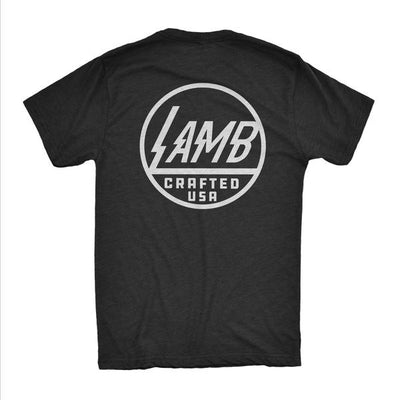 Lamb Voltage V-Neck Tee - Black/White