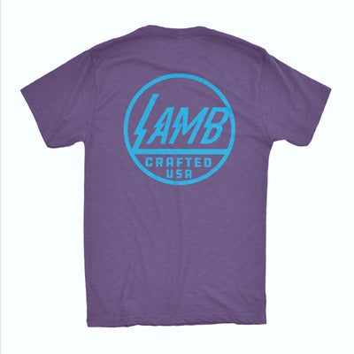 Lamb Voltage Tee - Purple/Turquoise
