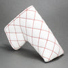 White/Red Quilted Leather Putter Cover ***LIMIT 1***
