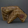 Brown/Tan Quilted Leather Putter Cover ***LIMIT 1***