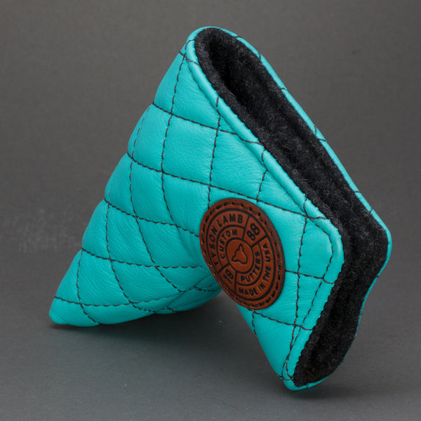 Turquoise/Black Quilted Leather Putter Cover ***LIMIT 1***