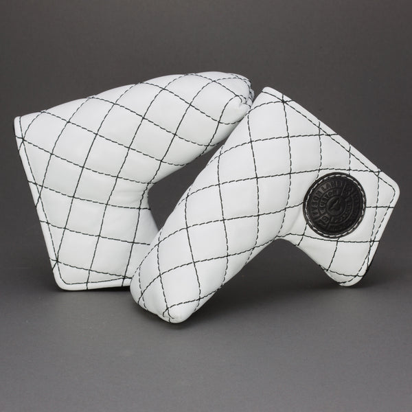 White/Black Quilted Leather Putter Cover ***LIMIT 1***