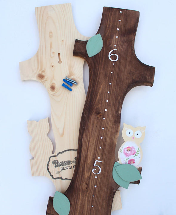 All of our Growth Charts Feature Keyhole Hangers and Screws Making Installation a SNAP!
