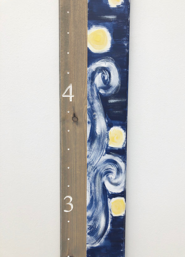 Starry Night - Grey and White - Blossom and Sprout Growth Charts