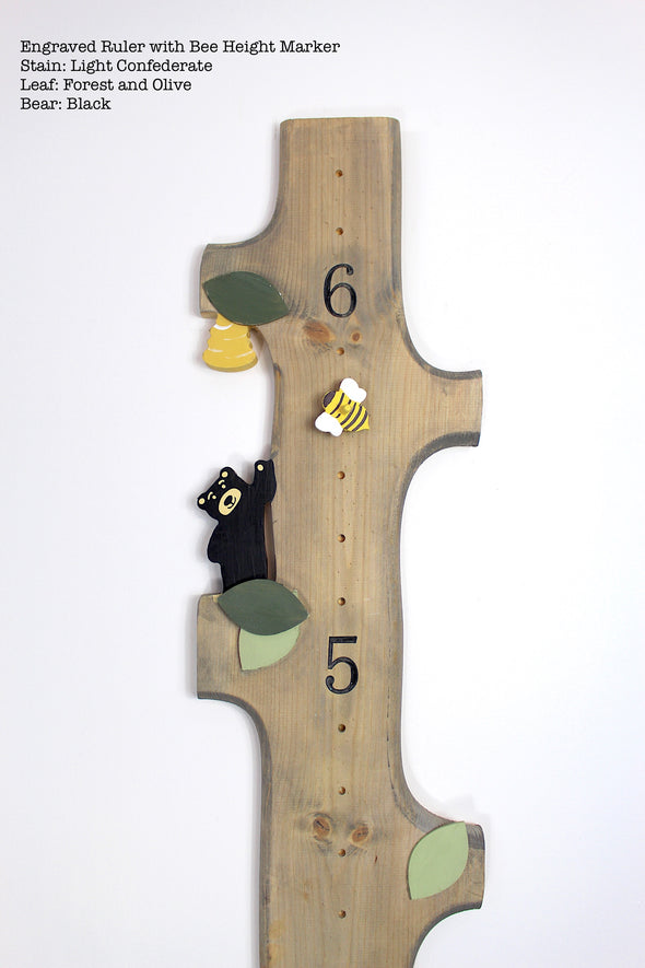 Woodland Bear - With Height Marker - Blossom and Sprout Growth Charts