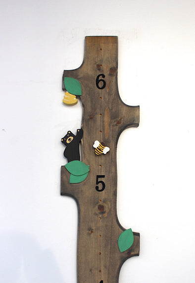 Woodland Bear - With height Markers - Blossom and Sprout Growth Charts
