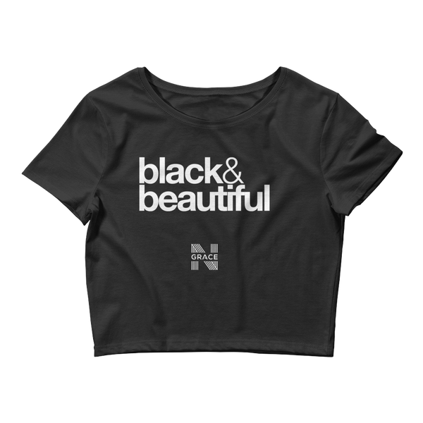 Black & Beautiful Crop Top